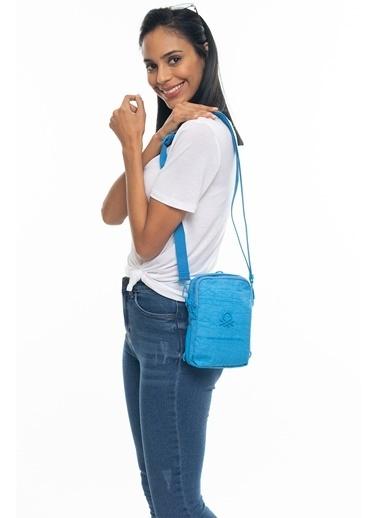 Benetton BNI0050235-033-D Kadın Vücut Çantası Hardal Mavi